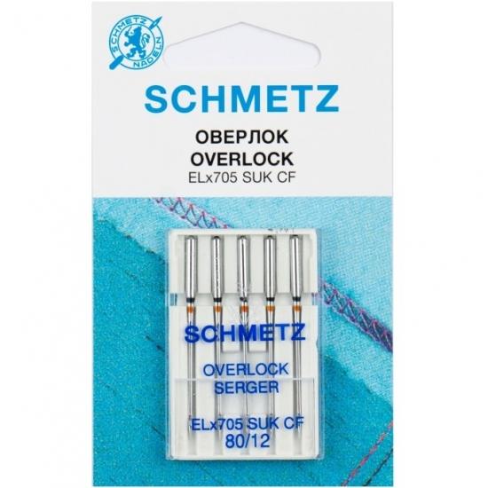 Голки для оверлока Schmetz Overlock №80
