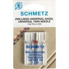 Игла двойная универсальная Schmetz Twin Universal №80/1.6 фото