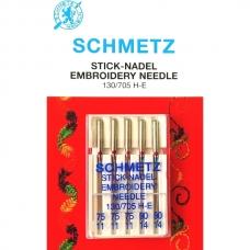 Иглы вышивальные Schmetz Embroidery №75-90 фото