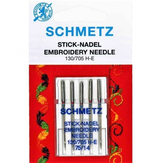 Иглы вышивальные Schmetz Embroidery №75