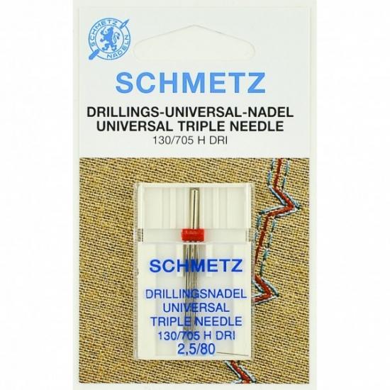 Игла тройная универсальная Schmetz Triple Universal №80/2,5