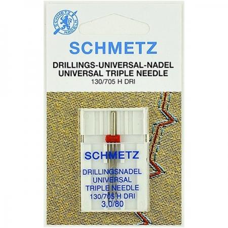 Игла тройная универсальная Schmetz Triple Universal №80/3.0