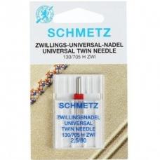 Голка подвійна універсальна Schmetz Twin Universal №80 / 2.5 фото