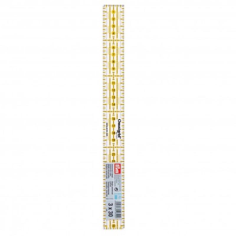 Лінійка для печворку 3 * 30 см Prym 611650