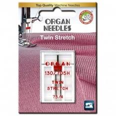 Голка подвійна стрейч Organ Twin Stretch №75/4.0 фото