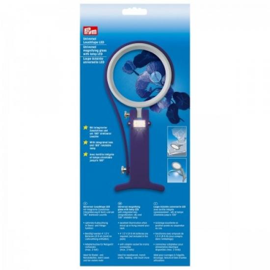 Лупа с LED лампой Prym 610380