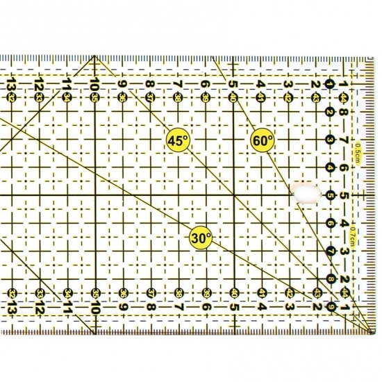 Линейка SewMate M1045-2 желтая
