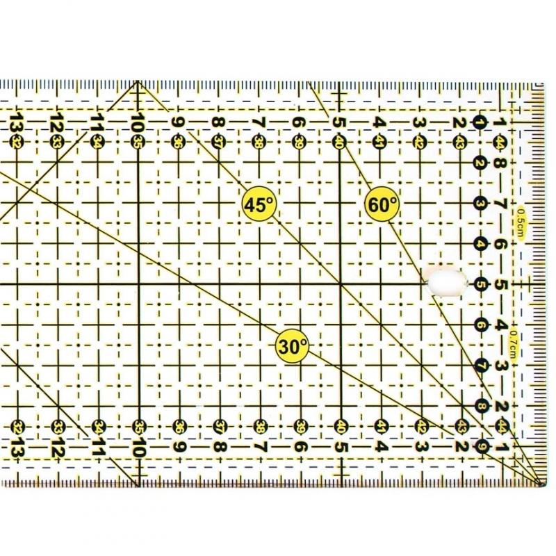 Лінійка SewMate M1045-2 жовта