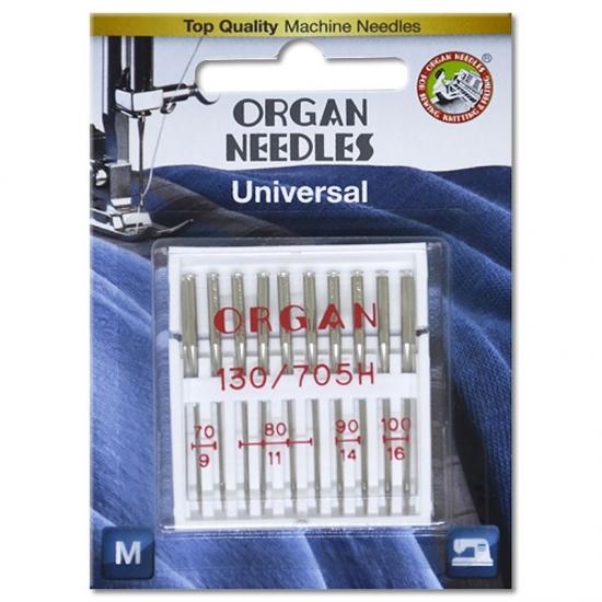 Голки універсальні Organ Universal №70-100 асорті 10 штук