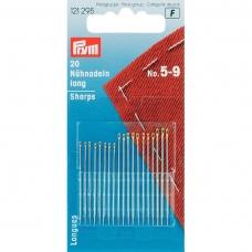 Голки Prym 121295 для шиття довгі нікельовані №5-9 фото