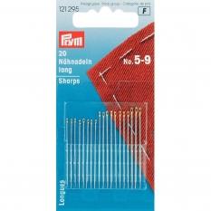 Иглы Prym 121295 для шитья длинные никелированные №5-9 фото