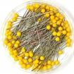 Булавки портновские Prym 028485 c пластиковыми головками желтые