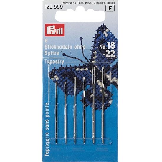 Иглы Prym 125559 с закругленным острием №18-22