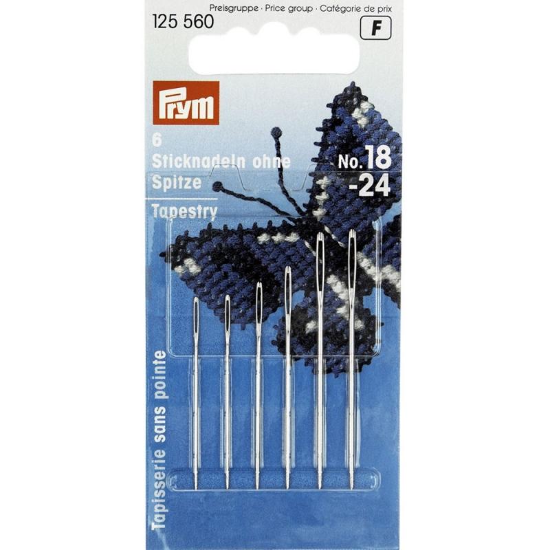 Голки Prym 125560 без вістря для вишивання хрестиком №18-24