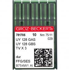 Иглы промышленные Groz-Beckert UY128GAS SES №75 фото