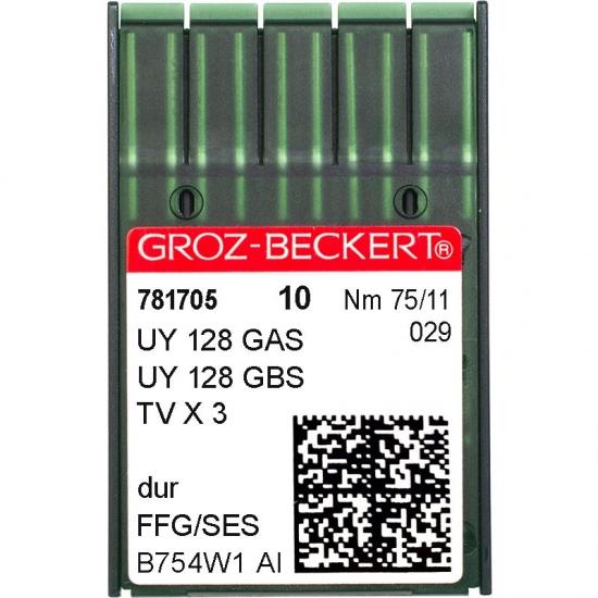 Иглы промышленные Groz-Beckert UY128GAS SES №75