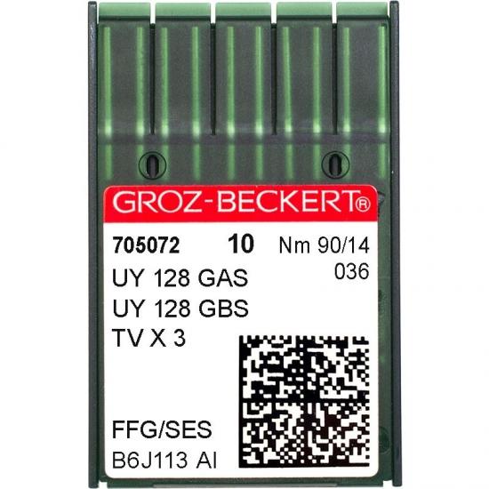 Иглы промышленные Groz-Beckert UY128GAS SES №90