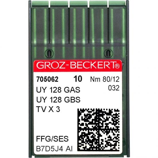Иглы промышленные Groz-Beckert UY128GAS SES №80