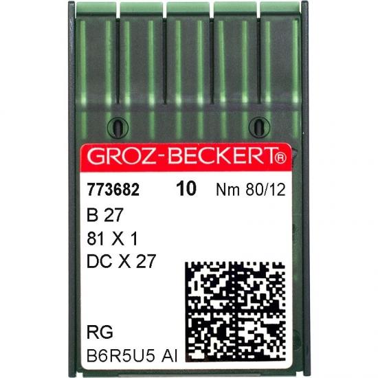 Иглы промышленные Groz-Beckert DCx27 RG №80