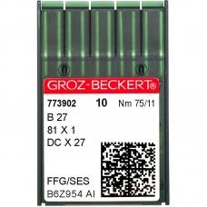 Голки промислові Groz-Beckert DCx27 SES №75 фото
