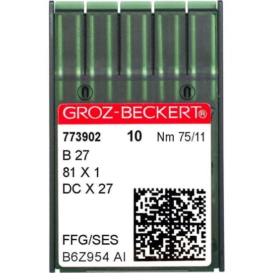 Иглы промышленные Groz-Beckert DCx27 SES №75