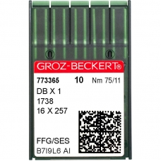 Иглы промышленные Groz-Beckert DBx1 SES №75 фото
