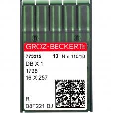 Иглы промышленные Groz-Beckert DBx1 R №110 фото