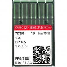 Иглы промышленные Groz-Beckert DPx5 SES №75 фото