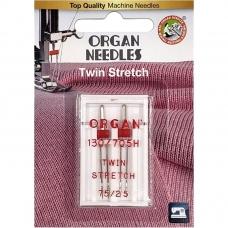 Игла двойная стрейч Organ Twin Stretch №75/2.5 фото