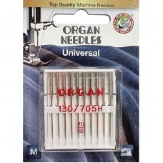 Иглы универсальные Organ Universal №70 10 штук фото