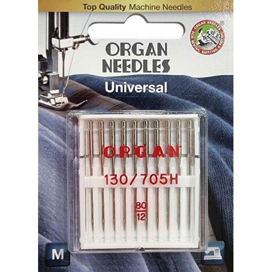 Иглы универсальные Organ Universal №80 10 штук