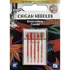 Иглы для вышивки Organ Embroidery Combi-Box 5 штук фото