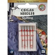 Иглы для квилтинга Organ H-QU Quilting №75-90 5 штук фото