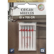 Иглы для оверлока Organ ELx705 CR PB №75 5 штук фото