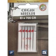 Голки для оверлока Organ ELx705 CR PB №80 5 штук фото