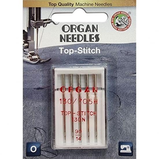 Голки для штопання і вишивки Organ Top-Stitch №90 5 штук