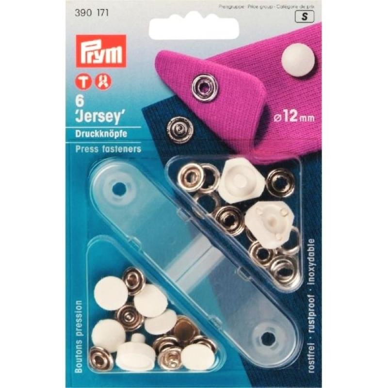 Кнопки Prym Jersey 12мм белые 390171