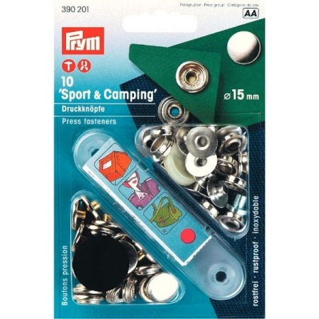 Кнопки Sport and Camping 15 мм серебристые 390201