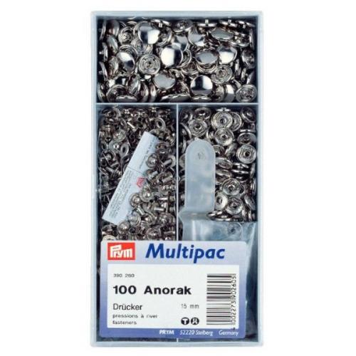 Кнопки Prym Anorak 15мм серебристые Multipuc 390260 фото