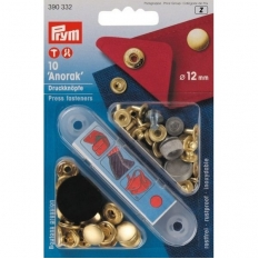 Кнопки Prym Anorak 12мм золотистые 390332 фото