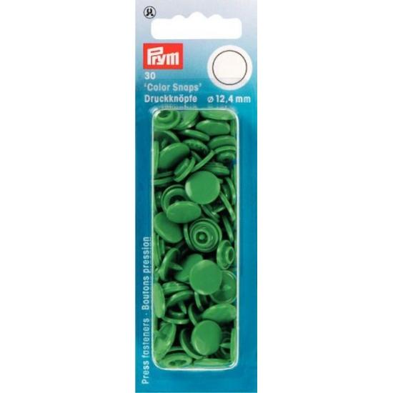 Кнопки зеленые Color Snaps 12,4 мм Prym 393151