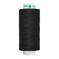 Нитки швейные Dor Tak 200 черные №40/2 фото