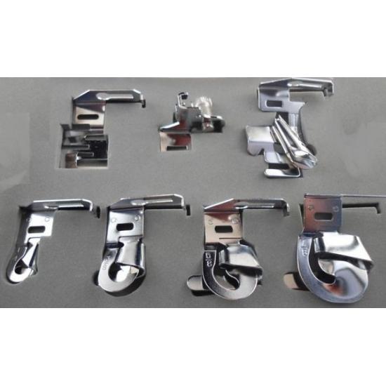 Набор улиток, окантователь и лапка для резинки MegaSew SPF-7006