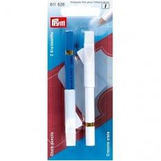 Олівці крейдяні Prym 611626 білий / блакитний 11 см фото
