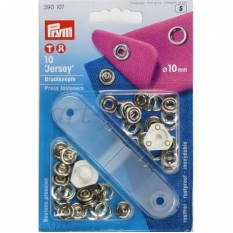 Кнопки Prym Jersey 10мм серебристые 390107 фото