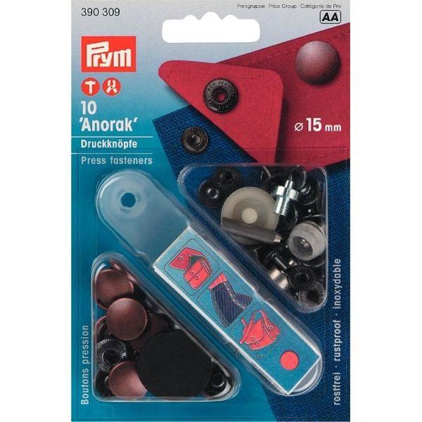 Кнопки Anorak 15мм медь 390309 фото