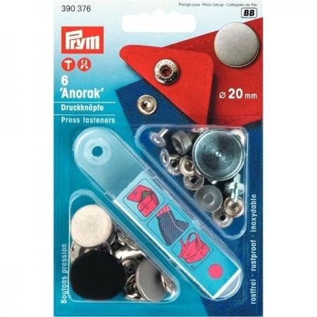 Кнопки Prym Anorak 20мм железо 390376