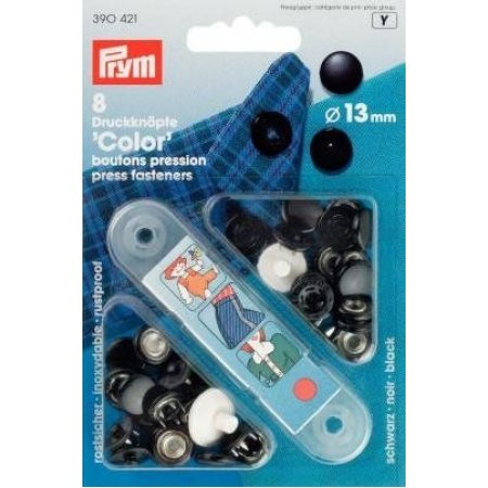 Кнопки Color черные 13 мм 390421