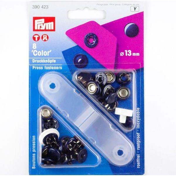 """Кнопки """"Color"""" темно-синие 13мм 390423 фото"""
