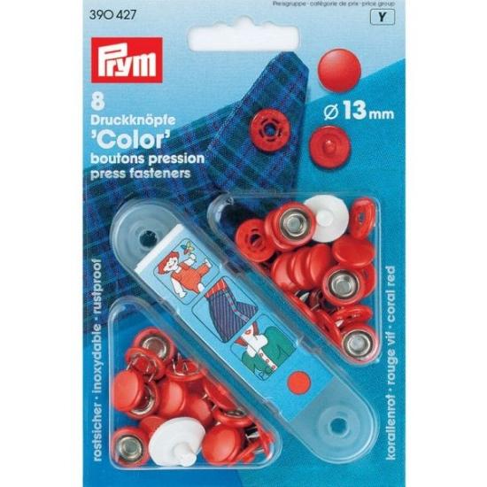 Кнопки Color красный 13 мм 390427